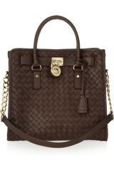 Michael by Michael Kors Hamilton Woven Leather Tote - Lyst
