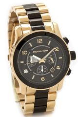 Michael Kors Two Tone Runway Watch - Lyst
