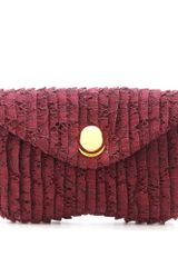 Miu Miu Pleated Lace Clutch - Lyst