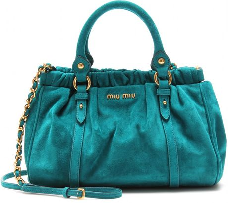 Miu Miu Mini Handbag in Blue (turquoise) - Lyst