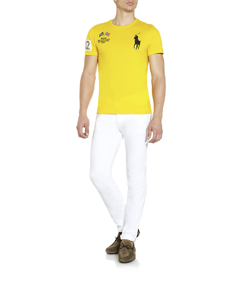 025e0fa1 Polo Ralph Lauren Brazil Track Field T-shirt in Yellow for Men - Lyst