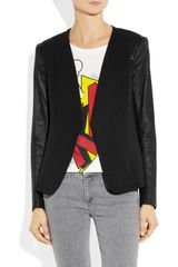 Theory Yaisa Jersey and Leather Jacket in Black - Lyst