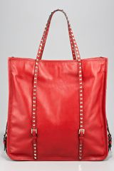 Valentino Rock-stud Shopping Tote - Lyst
