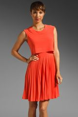 Z Spoke by Zac Posen Pleated Dress - Lyst