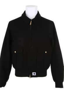 Adam Kimmel X Carhartt Bomber Jacket in Black Wool - Lyst