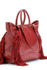 Christian Louboutin Justine Shopper Tote in Red - Lyst