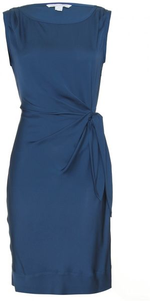 Diane Von Furstenberg New Della Silk Wrap Dress in Blue - Lyst