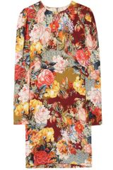 Dolce & Gabbana Photo Print Silk Shift Dress