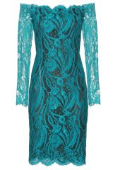 Emilio Pucci Chantilly Lace Off The Shoulder Dress