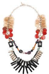 Etro Goldplated Acetate and Resin Necklace - Lyst