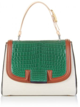 Fendi Silvana Bag with Croco Flap - Lyst