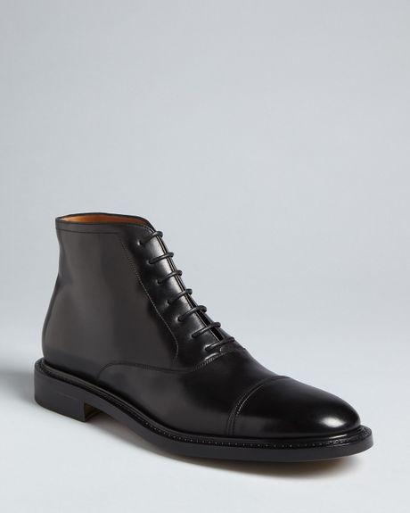 ferragamo aritz dress boots in black for lyst