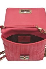 Lanvin Mini Red Happy Quilted Shoulder Bag in Pink (red) - Lyst