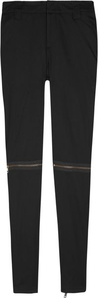 McQ by Alexander McQueen Zip Detailed Skinny Cotton Pants - Lyst