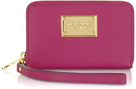 Michael Kors Michael Multi Function Iphone Case Zip Wallet in Pink (multi) - Lyst