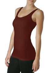 Michael Stars 2x1 Rib Boyfriend Tank in Brown (cinnamon) - Lyst