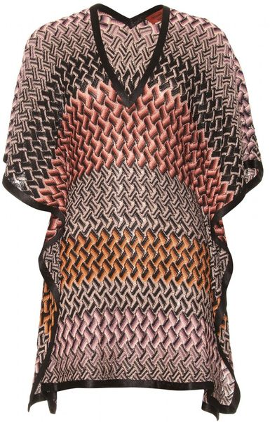 Missoni Mare Crochetknit Caftan in Pink (blush)