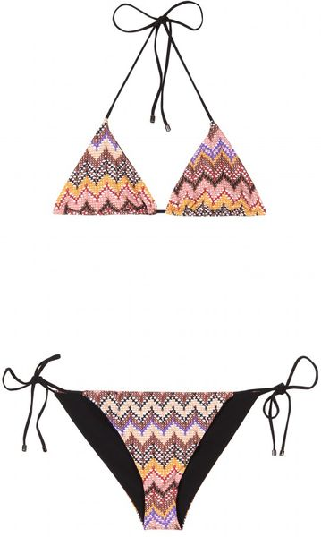 Missoni Mare Graphic Print String Bikini in Beige (nude)