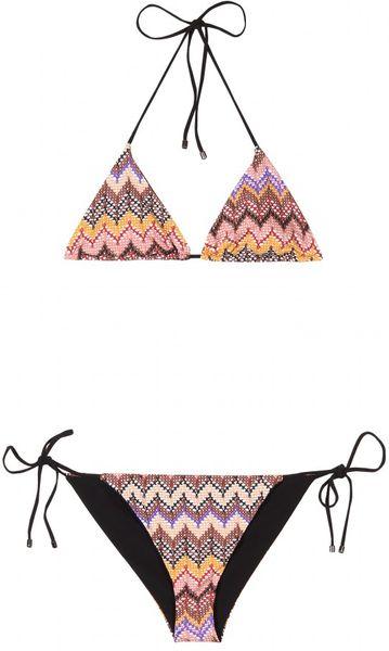 Missoni Mare Graphic Print String Bikini in Beige (nude)