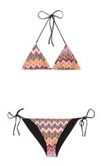 Missoni Mare Graphic Print String Bikini in Beige (nude) - Lyst