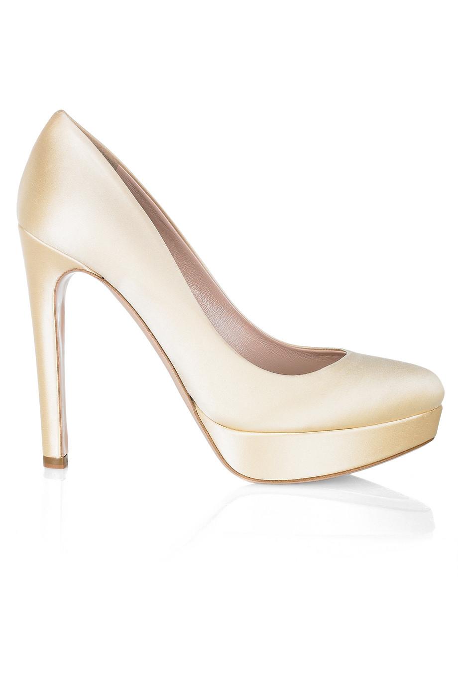 Satin Platform Heels