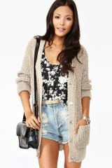 Nasty Gal Textured Knit Cardi