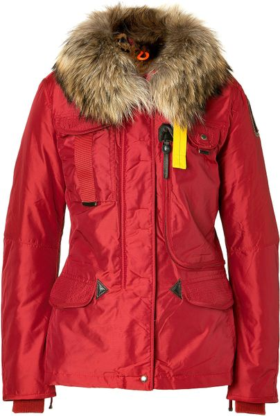 Parajumpers Red Denali Down Jacket in Red - Lyst