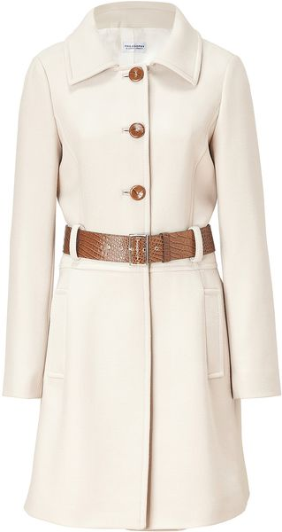 Philosophy di Alberta Ferretti Almond Belted Coat - Lyst