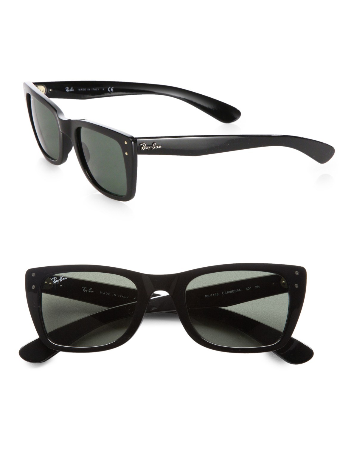 Lyst Ray Ban Caribbean Sunglasses In Black For Men