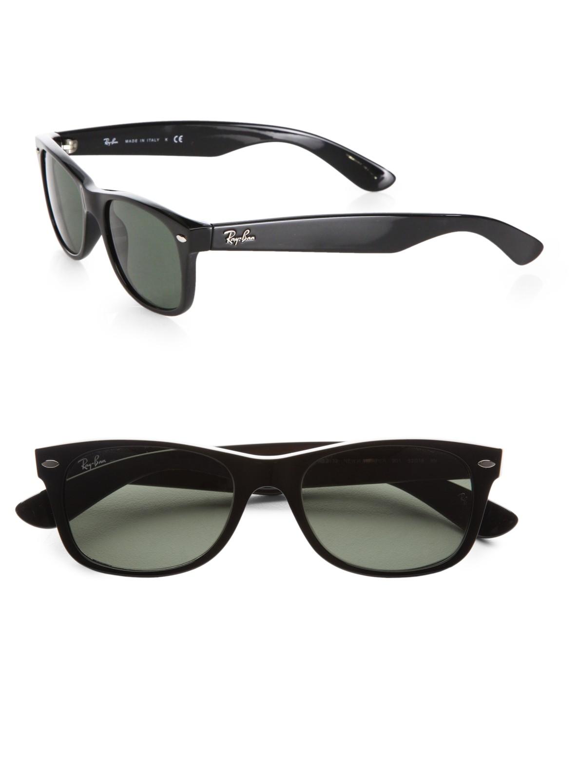 ray ban new wayfarer sunglasses in black for men lyst. Black Bedroom Furniture Sets. Home Design Ideas