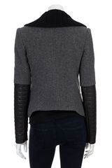 Theory The Ponette Jacket in Gray (grey) - Lyst