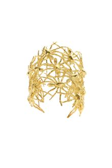 Tom Binns Spider Multi Cuff in Golden Brass Metal - Lyst