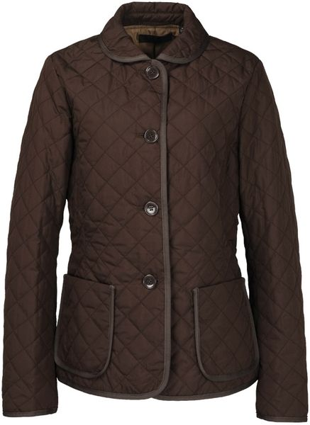 Uniqlo Women Quilted Jacket In Brown Dark Brown Lyst