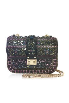 Valentino Embellished Glam Flap Shoulder Bag - Lyst