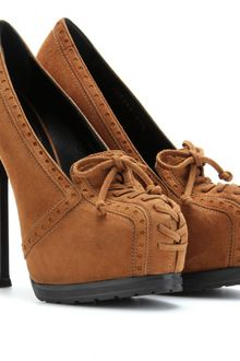 Yves Saint Laurent Tribtoo 105 Suede Platform Pumps - Lyst