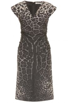 Yves Saint Laurent Animal Printed Dress - Lyst