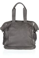 Alexander Wang Trudy Zipdetailed Leather Tote - Lyst