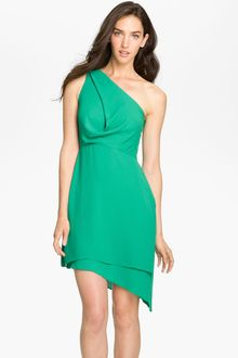BCBGMAXAZRIA One Shoulder Asymmetrical Chiffon Dress - Lyst