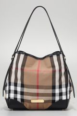 Burberry Small Check Canvas Tote Black - Lyst