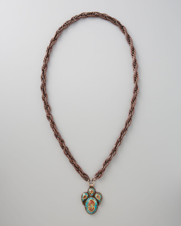 Devon Leigh Labradorite & Obsidian Pendant Necklace AuCgh9Ep
