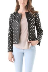 Diane Von Furstenberg Kate Studded Leather Jacket - Lyst