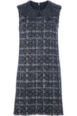 Dolce & Gabbana Tweed Shift Dress - Lyst