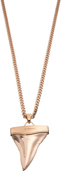 Givenchy  Sharks Tooth Pendant Necklace in Pink - Lyst