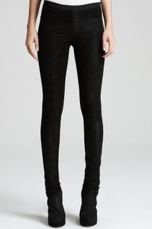 Helmut Lang Leather Leggings Stretch - Lyst