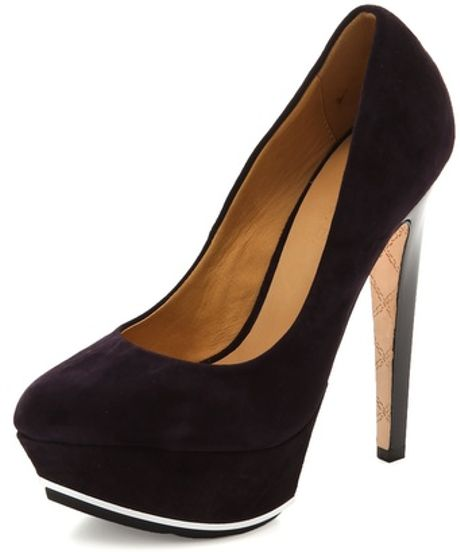 L.a.m.b. Dolores Pumps in Black (plum) - Lyst