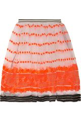 Marni Sequence Embroidered Organza Skirt - Lyst