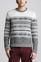 McQ by Alexander McQueen Fair Isle Sweater - Lyst