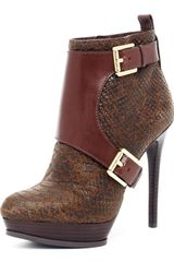 Michael Kors Buckled Ankle Boot - Lyst