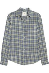MiH Jeans Plaid Cotton Shirt