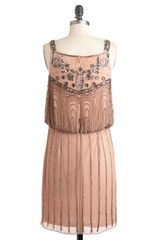 Modcloth A Friend in Beads Dress in Beige (silver) - Lyst